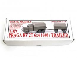 Praga RV 2T 6x4 1940 / Trailer