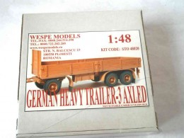 GERMAN HEAVY TRAILER-3 AXLED