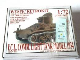 V-C-L COMM. LIGHT TANK MODEL 1934