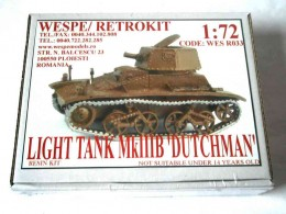 LIGHT TANK MkIIIB 'DUTCHMAN'